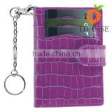 Genuine Leather Keychain Credit Card Wallet ,Business Card Holder china manufacturer