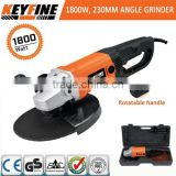 MANUFACTURE ELECTRICITY SOURCE POWER HIGH QUALITY POWER TOOLS TYPE FOR ANGLE GRINDER 230MM/ 9'' 1800W MACHINE