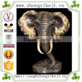 2015 chinese factory custom made handmade carved hot new products animals head statue of elephant head statue