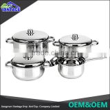 Manufacturing high quality stainless steel soup cooking pot sauce pot cookware sets with lid