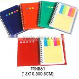 Recycled sticky memo pad with plastic cover for promotion
