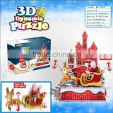 new 3D paper puzzle DIY rotation puzzle/ moveable puzzle for Chiristmas