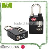 Zin-alloyed Travel Cable 3-Dial Combination TSA Lock With Indicator Can be Customized For Luggage