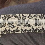 Black Skulls printed white hand wraps, custom printed bandage wear