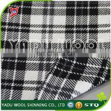 2017 fall winter Wholesale classic design cheap black white winter plaid thermal wool polyester fabric