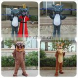 100% handmade hot sale customized wolf mascot costume for adults