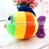 colorful plush stuffed tropical fish toys for festival and wedding gifts