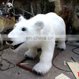 Amusement park mechanical animals moving simulation white bear