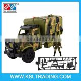 Military Fighter Truck Toy with Various Shooting Sounds and Light, Mini Army Soldier Included