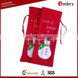 China manufactuer felt christmas drawstring bags for sale