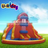 Gaint Children Seaworld Mobile Inflatable Slide With Pool Water Amusement Park Products For Sale