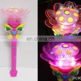 Cute spinning flashing musical lotus glow stick HC90399