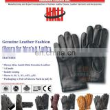 Leather Fashion Gloves | Fashion woman genuine sheepskin leather gloves