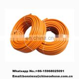 "JG China Factory Customized CE Approved 5/16"" 3/18"" Fiber Reinforced Flexible PVC LPG Natural Gas Connector Hose Pipe"