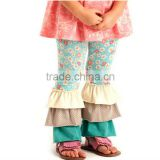 2014 Hot Sale! Cheap Baby Girl's Cotton Pants For Kids Ruffle Pants Girls Ruffle Leggings childrens boutique clothing