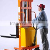 2016 China supplier cheap Manual Stacker 2Tons Semi Electric Pallet stacker