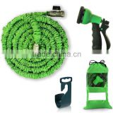 Expandable Garden Hose - 50 ft. Retractable, Lightweight & Flexible - 8 Pattern Function Watering Nozzle Gardening Spray