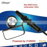 Wholesale Underwater LED Scuba Diving Canister Flashlight
