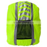 High visibility school bag cover reflective travel backpack cover