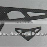 Carbon fiber Vertical / Horizontal stabilizer parts for 450 rc helicopter spare parts                                                                         Quality Choice