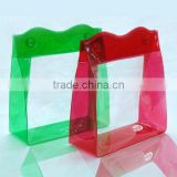 clear colorful pvc bag for packaging