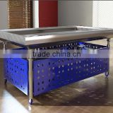 APEX custom make commercial restaurant stainless steel ice fresh fruit display table ice case