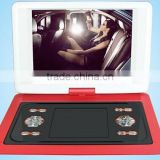 wholesale15inch portable dvd player with widescreen 16:9/270 degree /tv /game portable dvd player