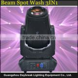 280w bulb 10r beam and spot moving head light 2 gobo wheels 2 sets of optical lens fast and quiet movement