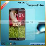 Wholesasle mobile phone accessory 9h explosion-proof for lg g2 tempered glass screen protector