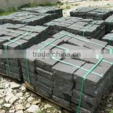 cheap price paving stone, natural stone paver, cobble stone on net, paving stone with mesh