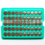 Bulk Tray 2016 factory price AG10 1.5v AG Series Alkaline Button cell battery with pkcell brand made in China
