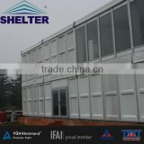 20m M series double deck tent with glass wall system made by shelter tent guangzhou manufacturing