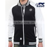 NIKOO quality white/black varsity jacket with embroidery