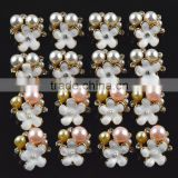 16mm Wholesales Price AAA Quality Alloy Pearl Flower Crystal Rhinestone Buttons for WeddingJewelry Garment Accessory
