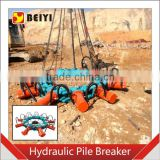 BEIYI Concrete MK180S Round Hydraulic Pile Breaker cutting concrete foundation machinery