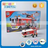 Latest product DIY building block fire rescue truck toys for kids for sale                                                                                                         Supplier's Choice