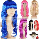 FASHION WOMEN LONG CURLY FANCY DRESS FULL HAIR CLIP WIG COSTUME COSPLAY PARTY W436