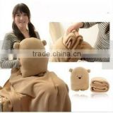 4 in 1 ( Warm hand doll / air blanket / pillow / cushion ) creative multifunction conditioning blanket