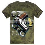 printing factory high quality gun tie dye t shirt for summer wear