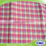 stock lot100% cotton yarn dyed woven shirting fabric in china