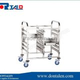 Commercial Stainless Mobile 6 Bay Caterers Bakers Rack Trolley +10 Baking Trays