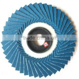 80-320grit 4inch 100mmx 16mm korea style flower-shaped flap disc Zirconia Flexible Flap Disc