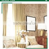 on trend embossed plastic wallpaper, brown royal damask wall sticker for living walls , decorative wallcovering designs