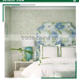 hot printing non woven wallpaper, green simple marble wall covering for home decorative , eco wall sticker price