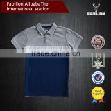 wholesale china custom colorblock polo t shirt,breathable children clothing