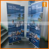 Economical roll up banner display stand,pp paper roll up display