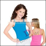 C2414 Girls ballet dance tank top, pictures of long skirts and tops for kid hip hop wear