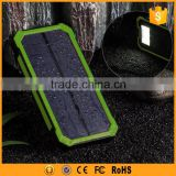 12000 mah solar power bank external battery with metal clip and led light