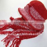 Acrylic Knit bucket scarf hat