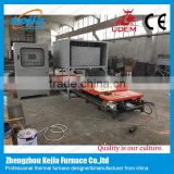 2016 new design CE-approved double trolly 1600c lab lifting customized furnace for ceramics